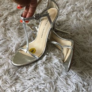 Silver Chinese Laundry Heels